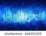 2d rendering stock market... | Shutterstock . vector #606351335