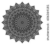 mandala. decorative round... | Shutterstock .eps vector #606364181
