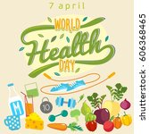 world health day. healthy food