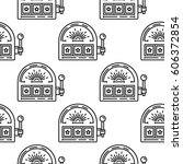 seamless vector pattern with a... | Shutterstock .eps vector #606372854