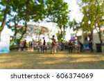 abstract blur people in park... | Shutterstock . vector #606374069