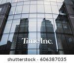 new york  usa   apr 28  2016 ... | Shutterstock . vector #606387035