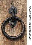 Closeup Image Of Old Door With...