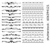 vector illustration. set of... | Shutterstock .eps vector #606394121