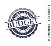 blue budget rubber seal with...   Shutterstock .eps vector #606406541