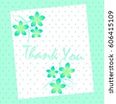 thank you  | Shutterstock .eps vector #606415109