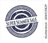 blue super summer sale rubber...   Shutterstock .eps vector #606415829