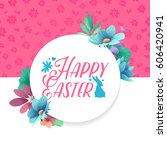 banner design template with... | Shutterstock .eps vector #606420941
