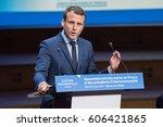 paris  france   march 22  2017  ... | Shutterstock . vector #606421865