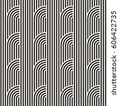 seamless monochrome geometric... | Shutterstock .eps vector #606422735