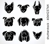 dogs set. vector | Shutterstock .eps vector #606423764