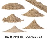 Set Of Sand Piles Isolated On...