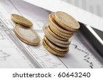 business chart  coin | Shutterstock . vector #60643240