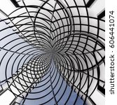 curvilinear grid structures.... | Shutterstock . vector #606441074