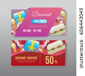 discount voucher template | Shutterstock .eps vector #606443045