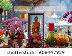 buddha statue at lungshan... | Shutterstock . vector #606447929