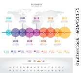 time line info graphics... | Shutterstock .eps vector #606451175