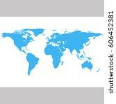 world map | Shutterstock .eps vector #606452381