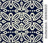 traditional block printed... | Shutterstock .eps vector #606461015