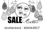 vector illustration of eggs.... | Shutterstock .eps vector #606463817
