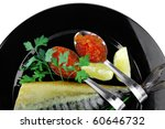 image of smoked fish served... | Shutterstock . vector #60646732