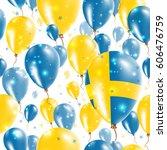 sweden independence day... | Shutterstock .eps vector #606476759