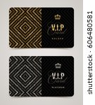 vip golden and platinum card... | Shutterstock .eps vector #606480581