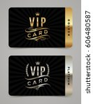 golden and platinum vip card... | Shutterstock .eps vector #606480587