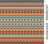 abstract ethnic stripe pattern  ... | Shutterstock .eps vector #606482267