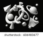 3d render  abstract background  ... | Shutterstock . vector #606483677