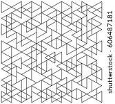 seamless triangle pattern.... | Shutterstock .eps vector #606487181