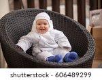 portrait of a little baby boy...   Shutterstock . vector #606489299