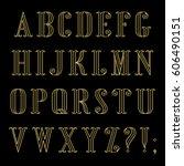 Contour Vector Font In Retro...
