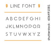 vector thin line font. black... | Shutterstock .eps vector #606491081