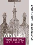 vector wine list for wine... | Shutterstock .eps vector #606491825