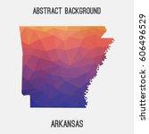 arkansas map in geometric...   Shutterstock .eps vector #606496529