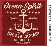 ocean spirit  the sea captain ... | Shutterstock .eps vector #606503915