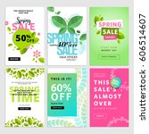 set of spring sale banners.... | Shutterstock .eps vector #606514607