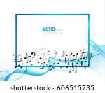 abstract colorful music... | Shutterstock .eps vector #606515735