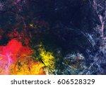 bright artistic splashes on... | Shutterstock . vector #606528329