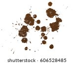 drops of mud sprayed isolated...   Shutterstock . vector #606528485