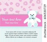 baby shower invitation card... | Shutterstock .eps vector #606530729