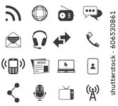 communication icons | Shutterstock .eps vector #606530861