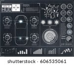 futuristic user interface. hud... | Shutterstock .eps vector #606535061