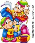 funny elves | Shutterstock .eps vector #60654052