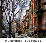 mile end  montreal canada after ... | Shutterstock . vector #606548381