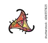 abstract triangular ornament ... | Shutterstock .eps vector #606557825