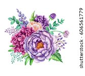Watercolor Illustration  Flora...
