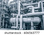 close up industrial zone the... | Shutterstock . vector #606563777