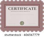 vector illustration of diploma. ... | Shutterstock .eps vector #606567779